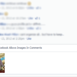 Now Facebook Allows Images In Comments